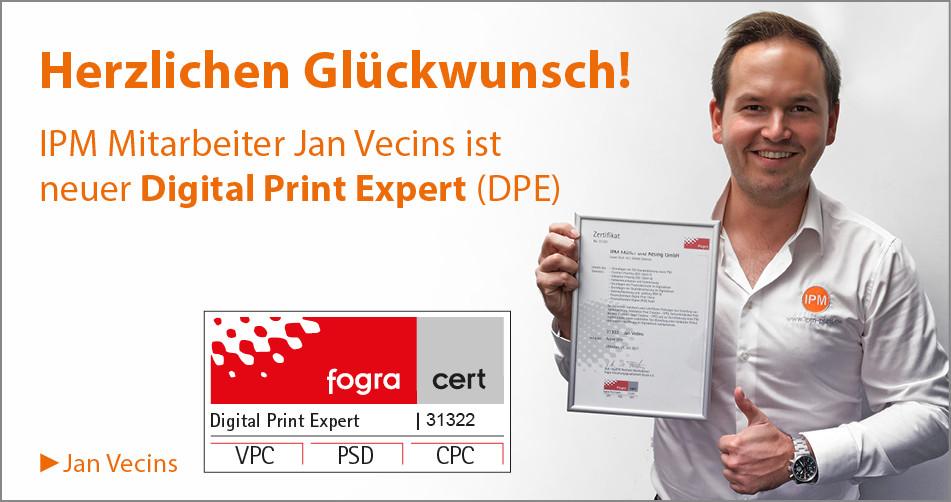 Prüfung bestanden! Digital Print Expert