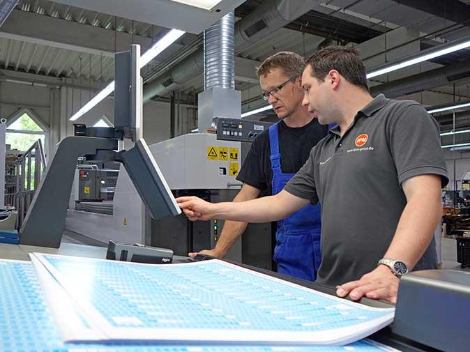 Mitarbeiter instruieren - Schulungen in Druckunternehmen