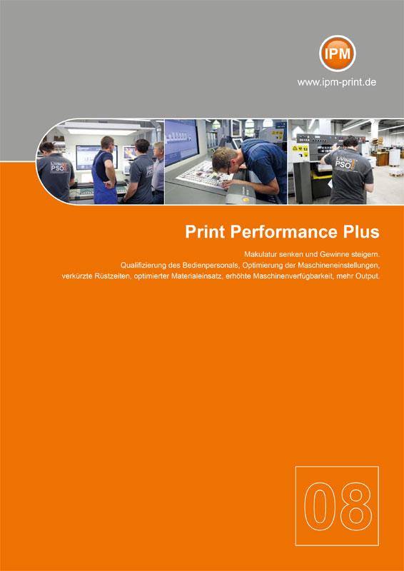Schulungen und Instruktionen in der Druckindustrie - Broschüre