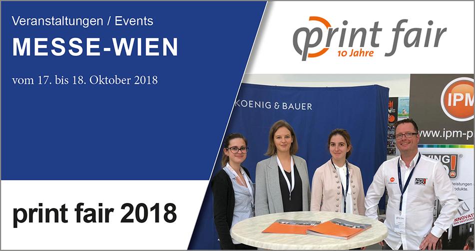 """IPM auf der """"print fair 2018"""""""